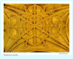 Catedral de Sevilla. Detalle del techo. (lameato feliz) Tags: sevilla catedraldesevilla