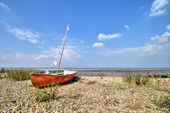 Little red boat, Seasalter (Aliy) Tags: boat red littleboat rowingboat oldboat beach whitstable kent seasalter coast sea prestonparade smallboat redboat