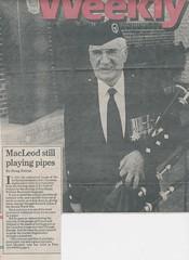 Bill MacLeod's Pipes1 (Hugh Peden) Tags: stirling pipe band pine falls manitoba major william bill macleod
