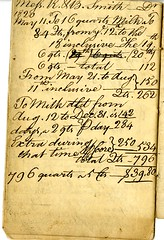 Twenty-first page of the Cambridge Milk Dealer Account Book (Cambridge Room at the Cambridge Public Library) Tags: cambridgemass commerce milk business accountbooks milkdelivery