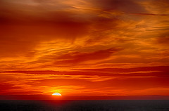 A fire in the sky... (John fae Fife) Tags: fujifilmx fire xe2 sun sunset clouds sea