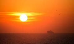 - Sun - (TessAnjel) Tags: photo photography sea boat sky paysage sunset sunrise soleil bateau mer wave vague water eau horizon ciel nuage cloud sun