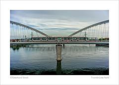 Trambrücke Kehl (1) (ekkiPics) Tags: eröffnung kehl nahverkehr rhein strassenbahn symmetrie trambrücke zug bridge publictransportation strasbourg international europe