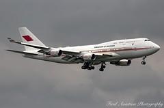 Bahrain Amiri Flight Boeing 747-4F6 A9C-HAK (Fasil Avgeek (Global Planespotter)) Tags: bahrain amiri flight boeing 7474f6 a9chak 747 400 jet aircraft airplane airliner jetliner