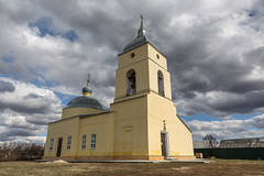 Church of St. Nicholas the Wonderworker (Oleg.A) Tags: cathedral dome spring cross penzaregion russia church nature orthodox bell architecture outdoor rural landscape villiage clouds catedral landscapes outdoors nechaevka penzenskayaoblast ru