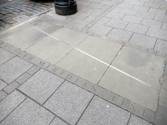 Gregory's Meridian memorial, 2017 Apr 29 (Dunnock_D) Tags: uk unitedkingdom britain scotland fife standrews southstreet pavement gregory meridian line jamesgregory brass plaque
