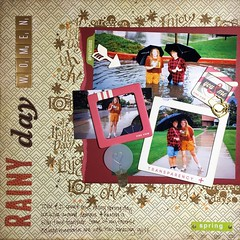 Rainy Day Women (girl231t) Tags: scrapbook paper 2016 layout 12x12layout