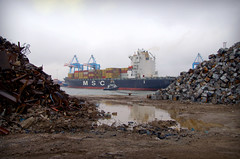 MSC Diego Amid The Scrap (Keithjones84) Tags: sea metal port liverpool dock ships terminal containership scrap msc containers berth seaforth mscdiego rsct