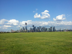 View from Liberty State Park (the726) Tags: newyorkcity skyline clouds jerseycity lowermanhattan