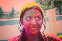 This is HOLI !!! (Samarpan Das) Tags: india color festival canon indian bangalore holi indianwomen canoneos1000d