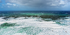 rough sea with stormy weather and waves (Mikel Martnez de Osaba) Tags: ocean blue sea sky seascape storm nature water weather coast waves break power view natural wind background horizon scenic wave windy stormy spray coastline rough elevated splash breaking splashing