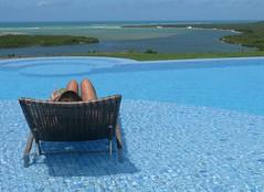 life is good (saudades1000) Tags: blue summer pool azul brasil relax solitude tranquility verano comfort relaxation lifeisgood tranquilidade caipirinha ete nordeste alagoas barradesaomiguel vivaavida tropicalvacation poolscene girlatpool gungaporanga gungaporongahotel hotelgungaporanga