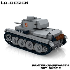 LEGO Custom WW2 German Panzer 38T 3 (LA-Design2012) Tags: tank lego wwii german ww2 instructions pdf custom xml panzer moc bauanleitung pzkpfw 38t panzerkampfwagen ladesign custombricks
