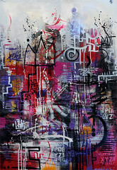 abs P (versi16) Tags: street abstract color art painting graffiti montana paint colorfull peinture canvas graff toile belton abstrait