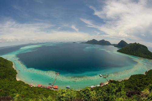 View from top of Bohey dulang Island