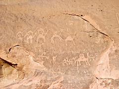 DSCF2400.jpg (releasethedogs) Tags: red sky mountains sand sandstone rocks honeymoon desert dune wadirum middleeast jordan petroglyph lawrenceofarabia hotspringnature