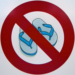 No Flip-Flops! (Timothy Valentine) Tags: vacation sign florida large tourist squaredcircle 0413