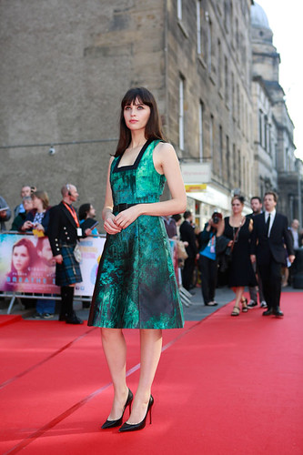 Felicity Jones at the European premiere of Breathe In at Festival Theatre