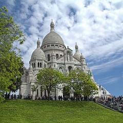 Sacr Coeur HDR (Gaet@n) Tags: paris france seine tour eiffel montmartre coeur disney capitale monuments hdr sacr