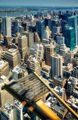 Manhattan (mhoffman1) Tags: city nyc newyorkcity newyork river nw skyscrapers unitedstates manhattan bankofamerica upperwestside 102 hudson metlife bigapple hdr photomatix colorefexpro