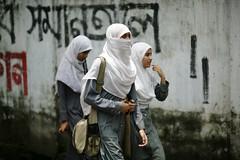 Madrasa on their minds.... (N A Y E E M) Tags: street girls students candid bangladesh carwindow chittagong madrasa ashkardighirpar
