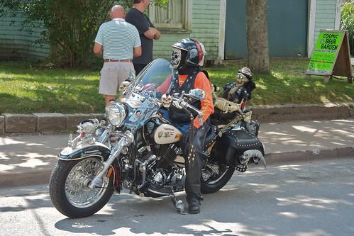 Decorated motorbike