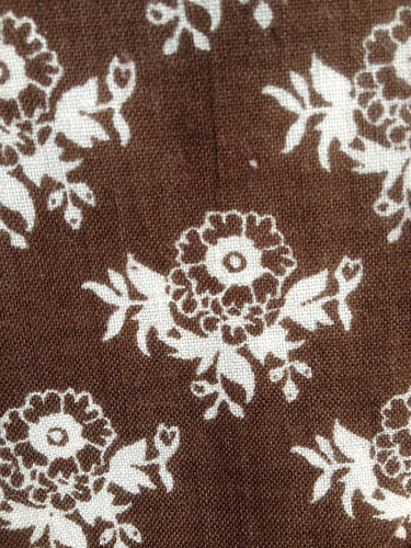 1970s Laura Ashley pansy design close-up