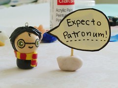 harry potter! (viva la vivien) Tags: phone chibi harry potter clay kawaii charms polymer gryffindor expecto patronum