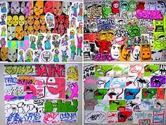 Packs (PSYCO ZRCS 10/12) Tags: street art sticker stickerart artist hand stickers vinyl trading drawn trade vinyls
