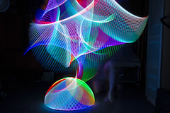 LED - light painting tools / toys - bars, balls and more (RickDrew) Tags: light color lines bar painting diy rainbow pov led sphere dome swirl rgb spirograph