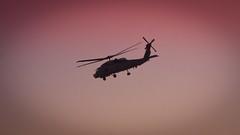 Helicoptero militar Sikorsky SH-60 Seahawk de la base de Rota