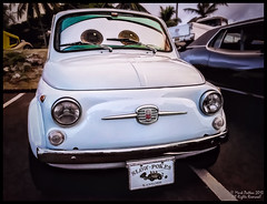 Slow Pokes Fiat (Explore) (Konaflyer) Tags: art car hawaii nikon automobile fiat antique kaneohe kailua slowpokes alienskinsoftware d7000 markpatton