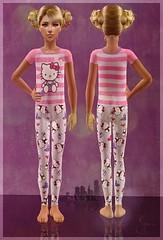 Hello Kitty Pajams for Kids (_Frency_) Tags: hello pink girls kids night sweet hellokitty kitty sims2 pajamas thesims2 simsyorkcity