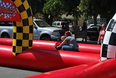 Vroom! Vroom! ([ the black star ]) Tags: boy silly girl lady racetrack mom kid ride mommy things adventure kingston riding stuff wife angela shrug angrybird theblackstar