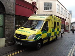 Ambulance, High Street, Tenby, Pembrokeshire 17 September 2013 (Cold War Warrior Follow Me on Ipernity) Tags: southwales ambulance tenby emergencyservices