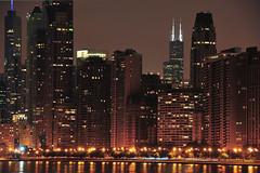 City Light (Yohsuke_NIKON_Japan) Tags: city longexposure summer urban usa chicago skyscraper illinois nikon nightview zoomlens  18200mm  d300s willistower