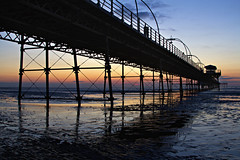 Southport Pier (mrcheeky2009) Tags: sunset sea beach reflections pier southport landcape southportpier
