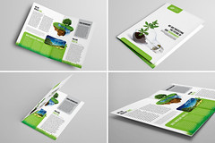 Bi-Fold Brochure 15 (Demorfoza) Tags: green water ecology windmill magazine print design energy graphic wind ad free half environment fold leaflet a4 brochure eco bi template pamphlet bifold halffold