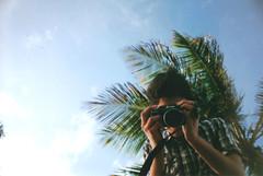 Pablo. (Camila Rodrigues Fotografia) Tags: planta 35mm vintage amigo lomography friend anal retr analogica coqueiro analogic lasardina