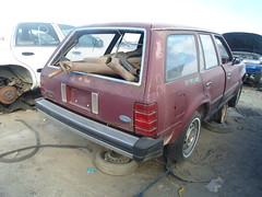 Ford Escort station wagon - rear (dave_7) Tags: ford car station wagon junkyard scrapyard escort