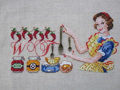 Oh, here it is. (yatsuk) Tags: kitchen vintage crossstitch embroidery fork retro wtf