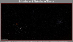 Hyades and Pleiades Star Clusters (The Dark Side Observatory) Tags: canon stars paintshop timelapse october cluster galaxy astrophotography m45 astronomy opencluster taurus sevensisters pleiades corel aldebaran hyades 2013 startracker redgiant Astrometrydotnet:status=solved pleiadesstarcluster ioptron ngc1647 tomwildoner Astrometrydotnet:id=supernova10891