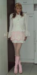 SISSY BROLITA (Felicia Colette) Tags: pink lace cd sissy transvestite miniskirt crossdresser bows pinkboots whitestockings sweetlolita tgurl brolita frillyblouse