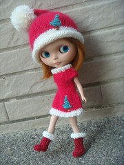 Blythe Christmas Santa outfit set