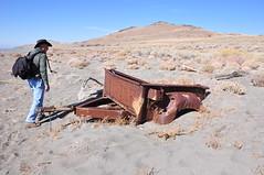Rusty and full of holes (Great Salt Lake Images) Tags: fall utah rick hike greatsaltlake fremontisland