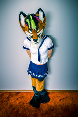 School Girl Foxx (Ice Foxx) Tags: furry skirt crossdressing fox partial fursuit schoolgirloutfit femboy femboi 91e207427274e5