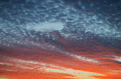 Sunset Textures (Warriorwriter) Tags: light sunset colors night clouds shadows cloudy dusk vibrant