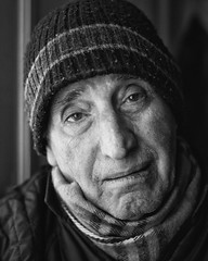 cold weather - (big andrei) Tags: leica old portrait bw man cold monochrome weather 50mm14 summiluxm