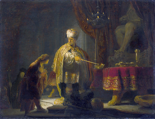 Rembrandt - Daniel and Cyrus before the Idol Bel [1633]
