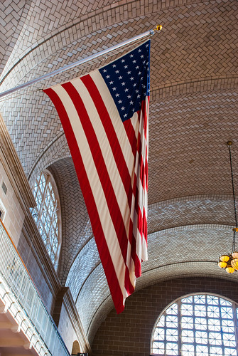 USA Flag at Ellis Island